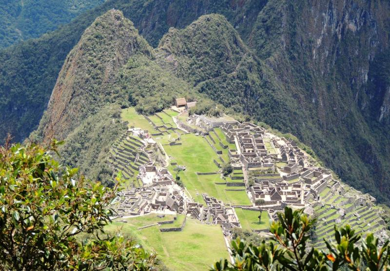 Vue célèbre du Machu Picchu